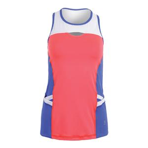 Women`s Keyhole Tennis Tank Poppy