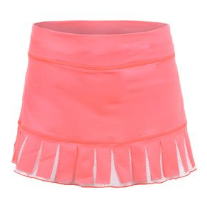 Women`s Carwash 12 Inch Tennis Skort Poppy