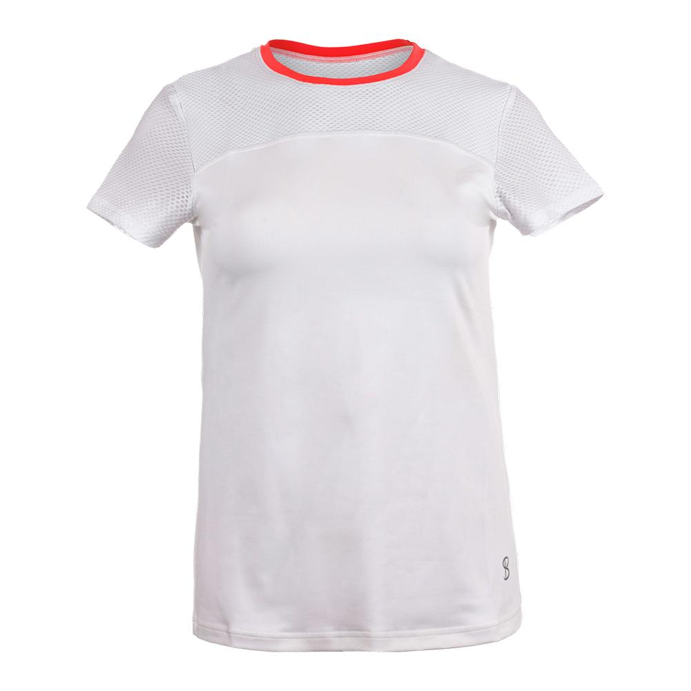 Women's Net Short Sleeve Tennis Top White