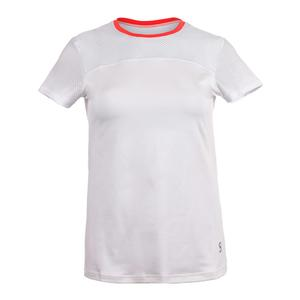 Women`s Net Short Sleeve Tennis Top White