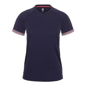 Women`s Heritage Short Sleeve Tennis Tee Navy