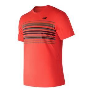 Men`s Graphic Accelerate Tennis Crew Flame