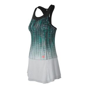 Women`s Printed Tournament Tennis Dress Black and White