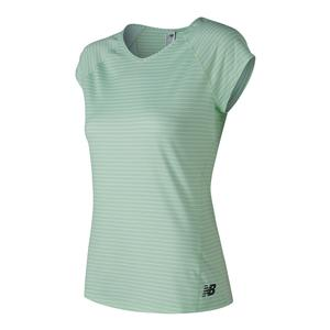 Women`s Rally Cap Sleeve Tennis Top Seafoam
