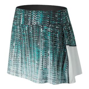 Women`s Printed Rally Tennis Skort Black and White