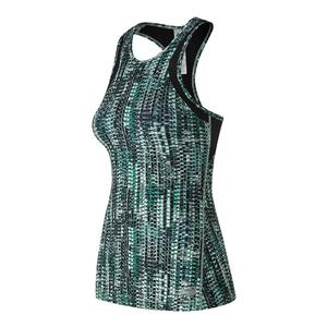 Women`s Printed Anticipate Tennis Tank Tidepool and Pixel Snake