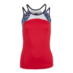 Women`s Palermo Racerback Tennis Top Bolle Red
