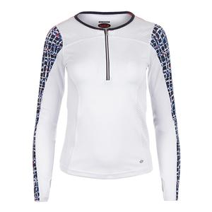 Women`s Palermo Long Sleeve Tennis Top White