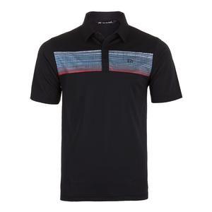 Men`s Three Jack Tennis Polo Black