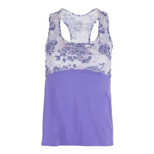 Women`s Racerback Tennis Top Serenity Print and Lilac