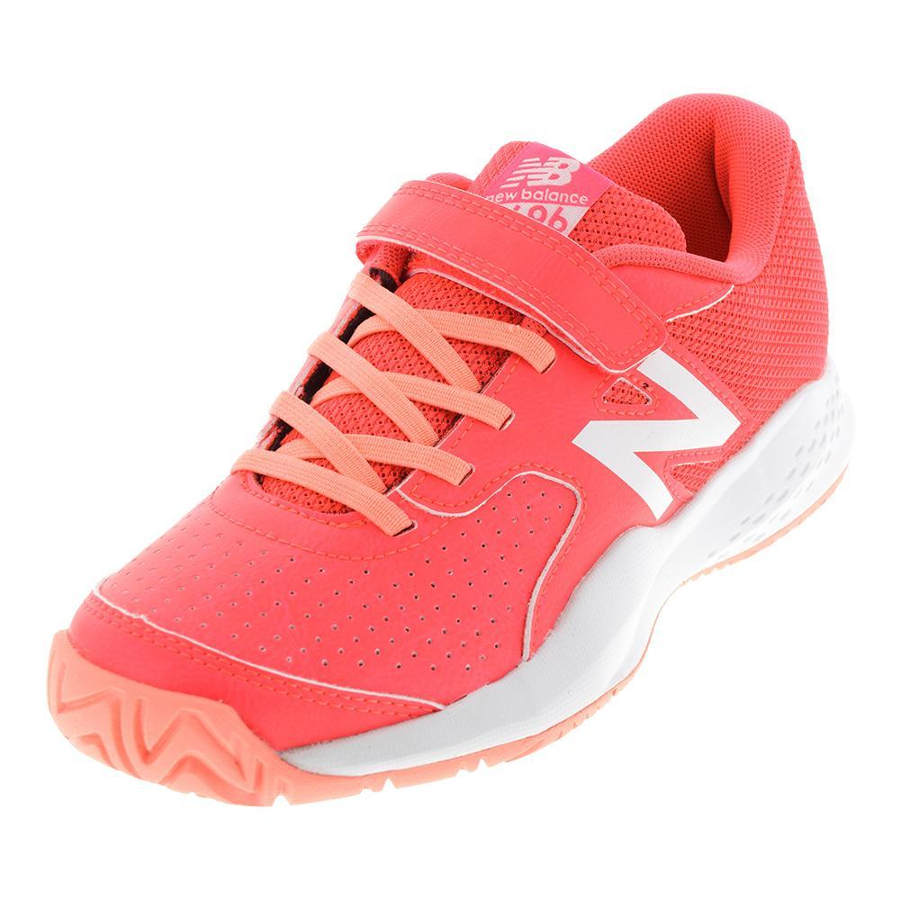New Balance Junior's 696V3 Tennis Shoe (Pink/White)