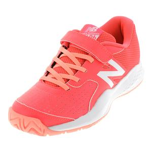Juniors` 696v3 Tennis Shoes Pink and White