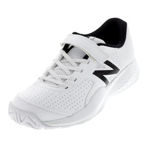 Juniors` 696v3 Tennis Shoes White and White