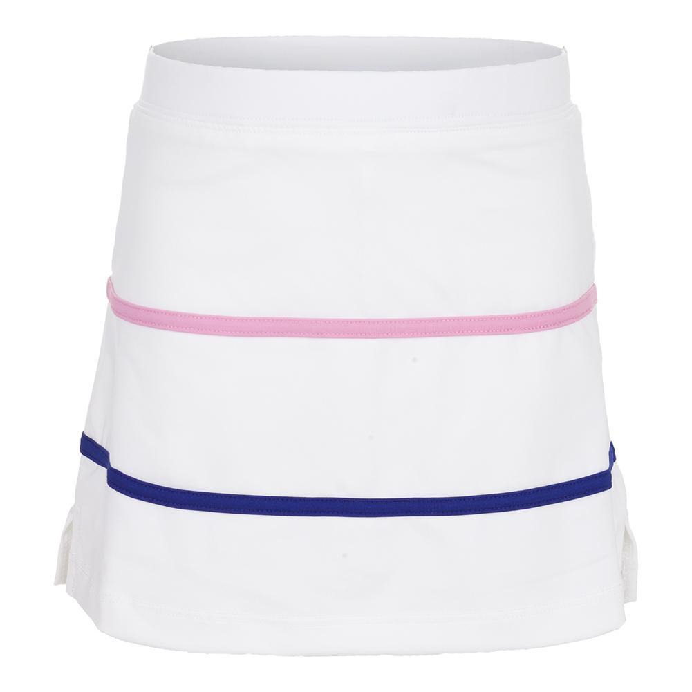 Girls'stripe Tennis Skort White