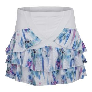 Women`s Long Tier Tennis Skort Bloom