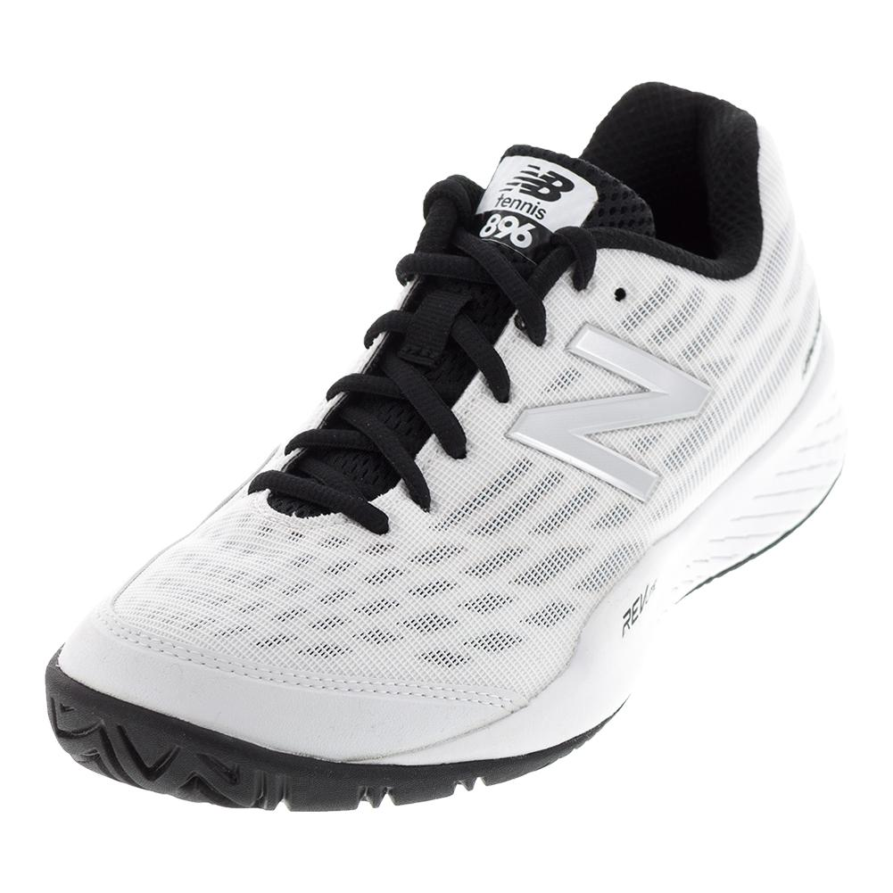 Women's 896v2 D Width Tennis Shoes White And Pigment