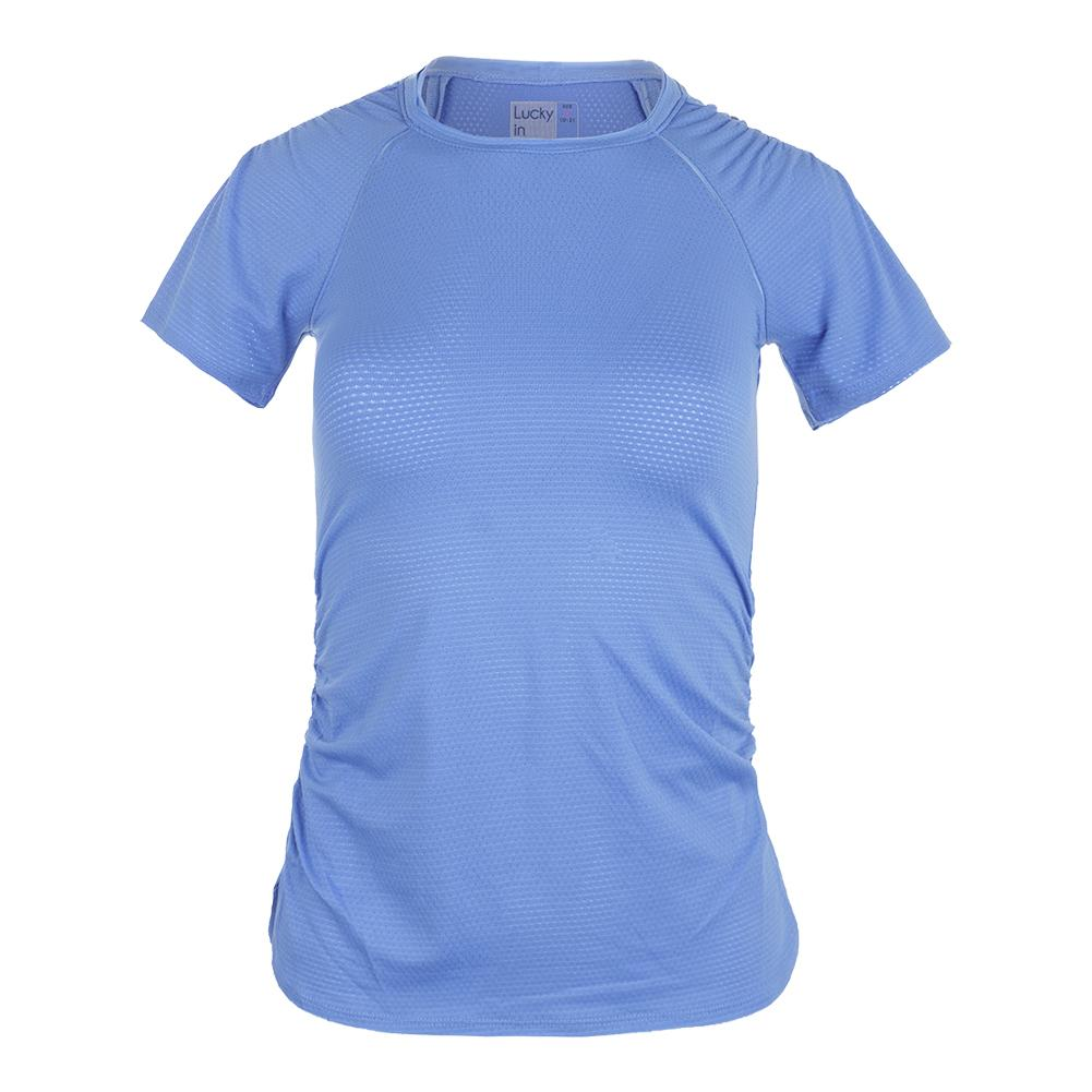 Women's Surreal Short Sleeve Tennis Top Blumarine
