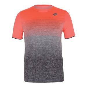 Men`s Court II Tennis Tee Orange Bright and Mel Black