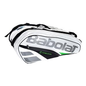 Pure Wimbledon 12 Pack Tennis Bag White