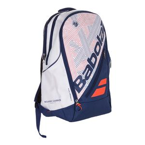 Team French Open Expandable Tennis Backpack White and Blue