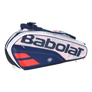 Pure French Open 6 Pack Tennis Bag White and Blue