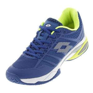 Men`s Viper Ultra IV Speed Tennis Shoes Blue Oil and White