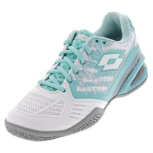 Women`s Stratosphere III Speed Tennis Shoes White and Green Thai