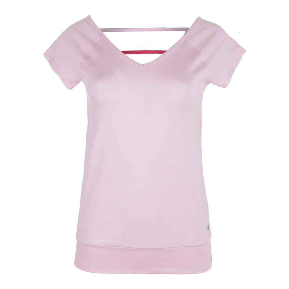 Women's V- Back Tennis Top Light Pink