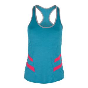 Women`s Command Tennis Tank Turquoise and Azalea