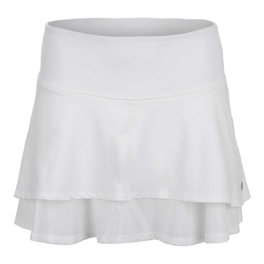 Women's Laser Tennis Skort White