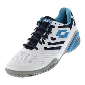 Men`s Stratosphere III Speed Tennis Shoes White and Blue Ego