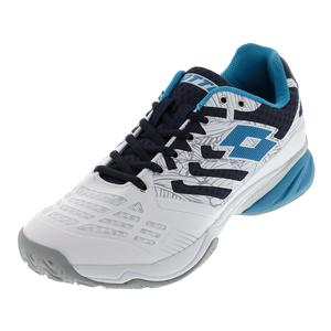 Men`s Ultrasphere All-Round Tennis Shoes White and Blue Ego