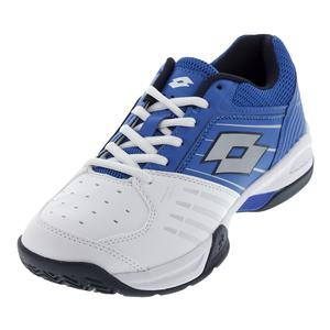 Men`s T-Tour 600 X Tennis Shoes White and Blue Sport