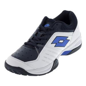 Men`s T-Tour 600 X Tennis Shoes White and Blue Atoll