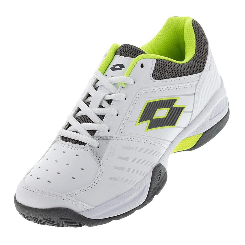 Men's T- Tour 600 X Tennis Shoes White And Yellow Safety