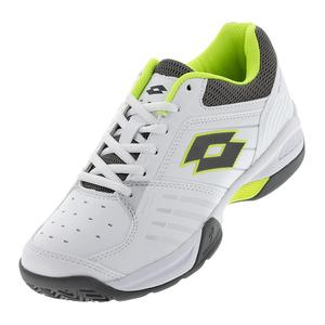 Men`s T-Tour 600 X Tennis Shoes White and Yellow Safety