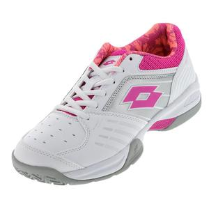 Women`s T-Tour 600 X Tennis Shoes White and Fuschia Lite