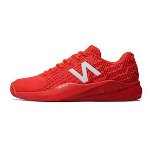 Men`s 996v3 D Width Tennis Shoes Flame and Red