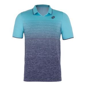 Men`s Court II Tennis Polo Blue Scuba and Mel Blue College
