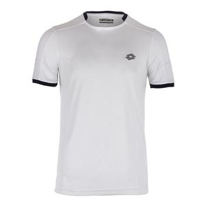 Men`s Dragon Tech II Tennis Tee White and College Blue