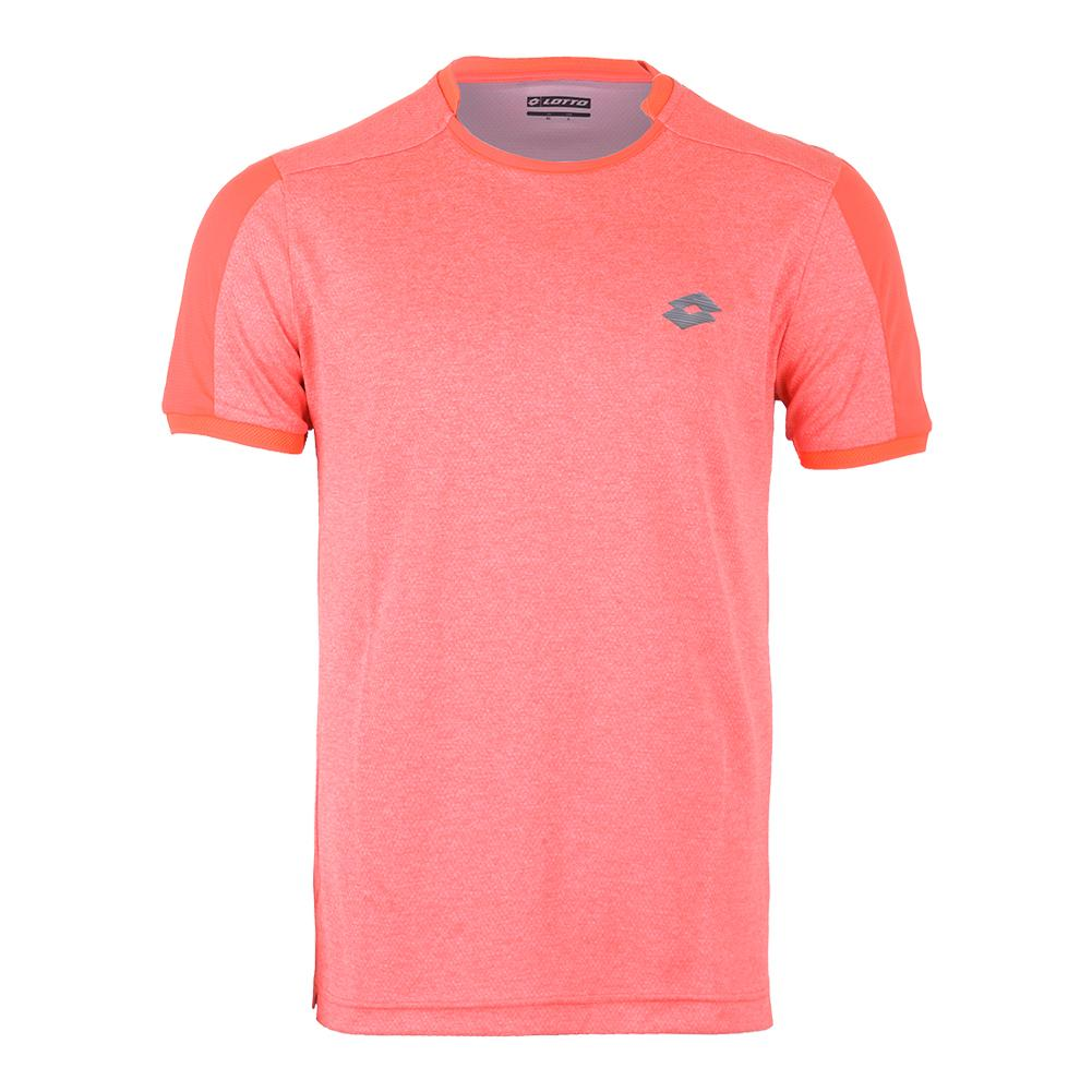 Men's Dragon Tech Ii Tennis Tee Orange Mel Bright