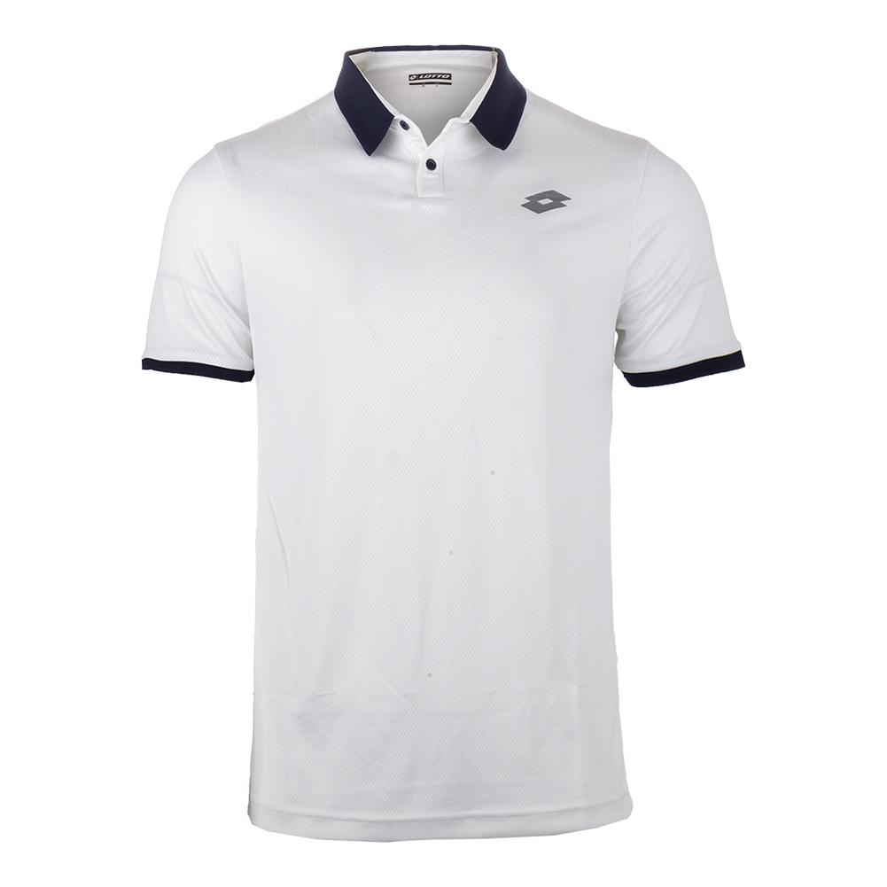 Men's Dragon Tech Ii Tennis Polo White And Blue College