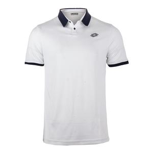 Men`s Dragon Tech II Tennis Polo White and Blue College