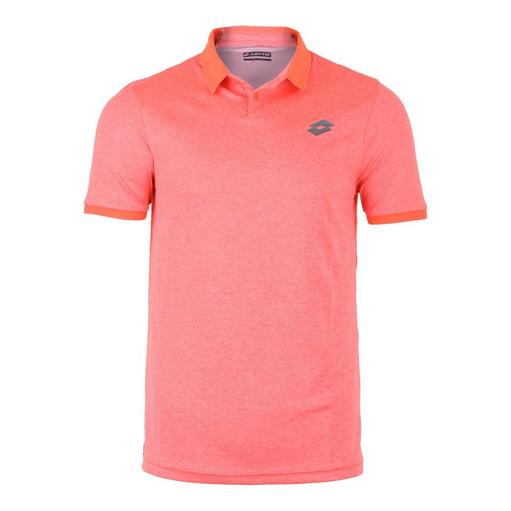 Men's Dragon Tech Ii Tennis Polo Orange Mel Bright