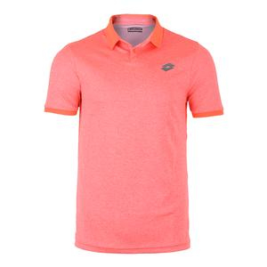 Men`s Dragon Tech II Tennis Polo Orange Mel Bright