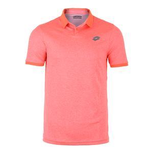 Men`s Dragon Tech II Tennis Polo Orange Mel Bright