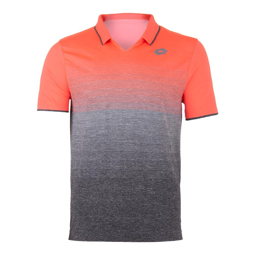 Men's Court Ii Tennis Polo Orange Bright And Mel Black