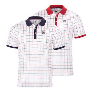 Men`s Heritage Windowpane Tennis Polo