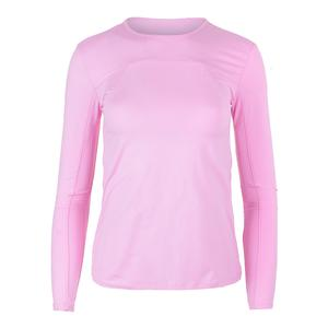 Women`s UV Blocker Long Sleeve Tennis Top Lilac Chiffon