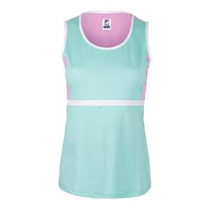 Women`s Elite Full Coverage Tennis Tank Ice Green and Lilac Chiffon